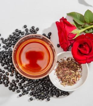 玫瑰黑豆濱當歸茶